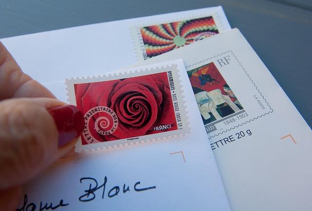 známky na dopisy